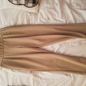 Tan pull on trousers